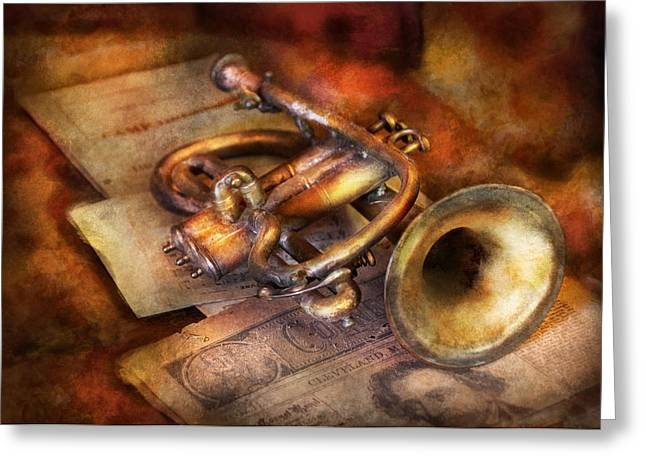 Maestro Greeting Cards - Musician - Horn - Toot my horn Greeting Card by Mike Savad