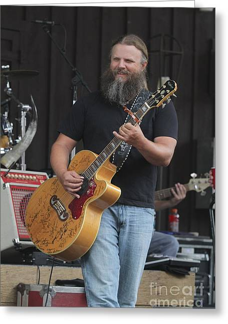 Autographed Guitars Greeting Cards - Musician Jamey Johnson Greeting Card by Front Row  Photographs