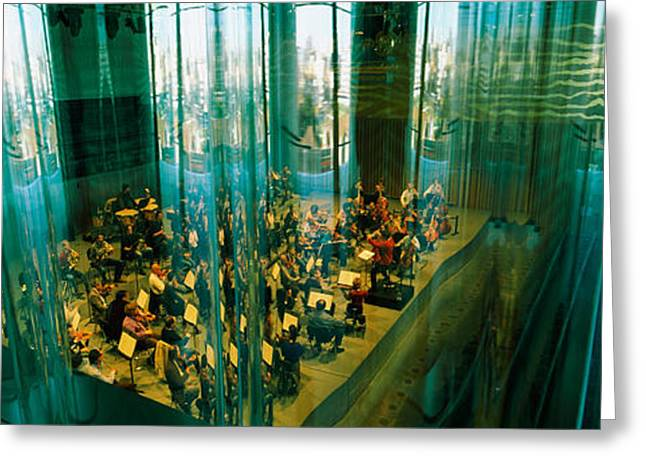 Mediterranean Series Greeting Cards - Musicians At A Concert Hall, Casa Da Greeting Card by Panoramic Images