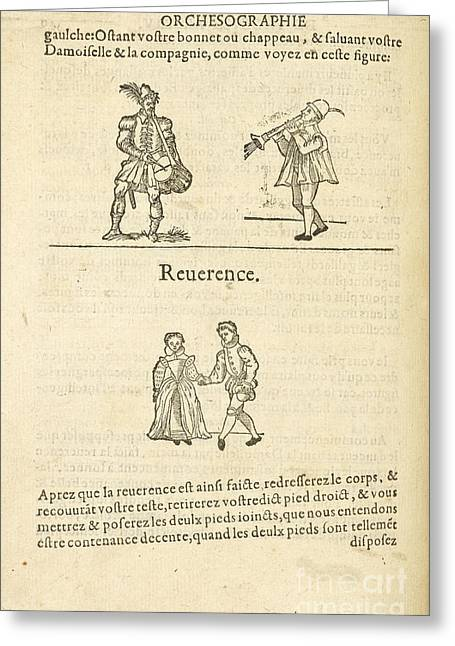 Formes Greeting Cards - Musicians; Dancers Greeting Card by British Library