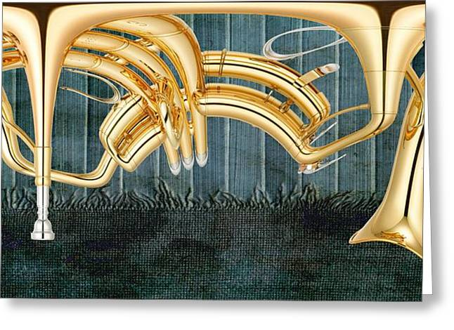 Trumpet Music Greeting Cards - Musikalis - d11bt2 Greeting Card by Variance Collections