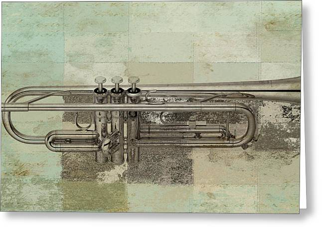 Trumpet Music Greeting Cards - Musikalis - j0730770140 Greeting Card by Variance Collections