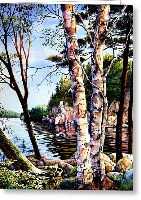 Landscape Posters Greeting Cards - Muskoka Reflections Greeting Card by Hanne Lore Koehler