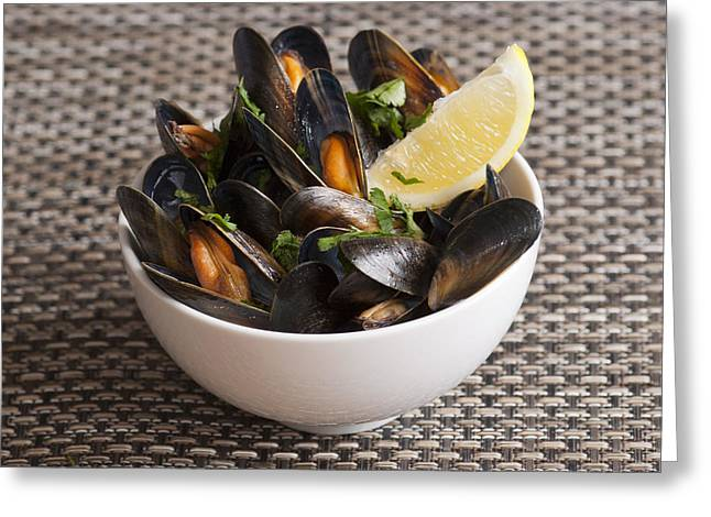Moules Greeting Cards - Mussels Greeting Card by Martin Turzak
