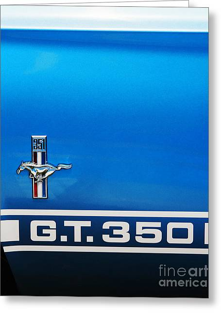 Blue Ford Greeting Cards - Mustang 350 GT Greeting Card by Tim Gainey