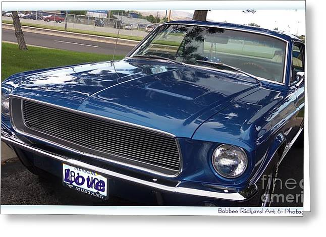Print On Acrylic Greeting Cards - Mustang Classic Greeting Card by Bobbee Rickard
