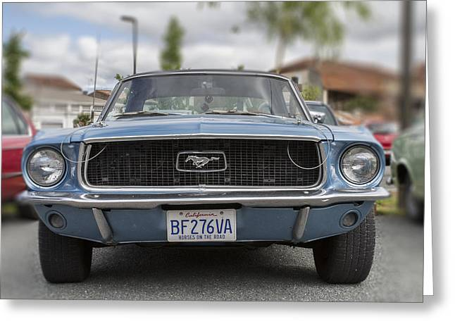 Beautiful Car Greeting Cards - Mustang Dreams Greeting Card by Nomad Art And  Design