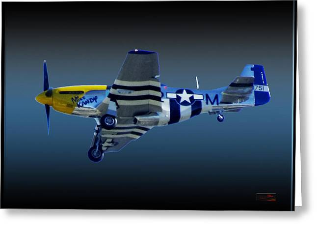 North American P51 Mustang Digital Art Greeting Cards - Mustang Kandy P51D Greeting Card by Rybird Music