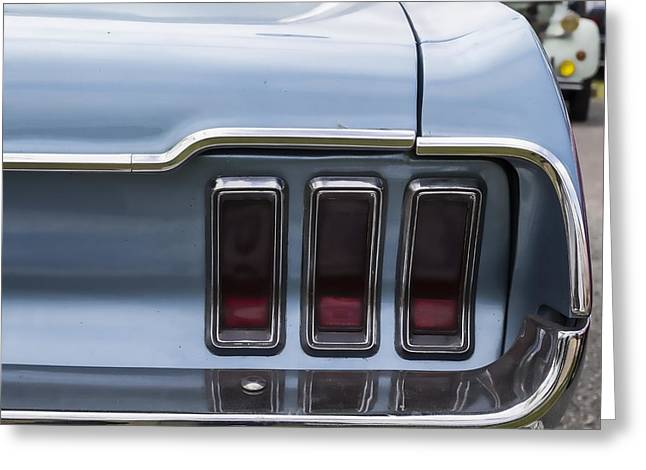 Beautiful Car Greeting Cards - Mustang Lights Greeting Card by Nomad Art And  Design