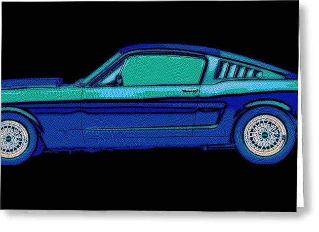 Ford Mustang Drawings Greeting Cards - Mustang Love Greeting Card by Florian Rodarte