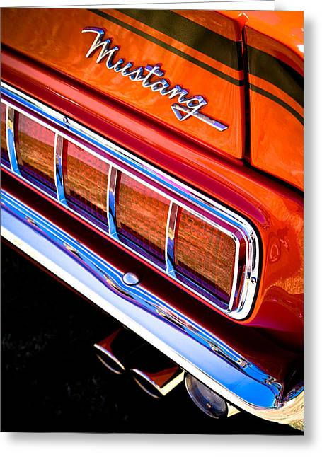 Motography Photographs Greeting Cards - Mustang Mach 1 Greeting Card by Phil