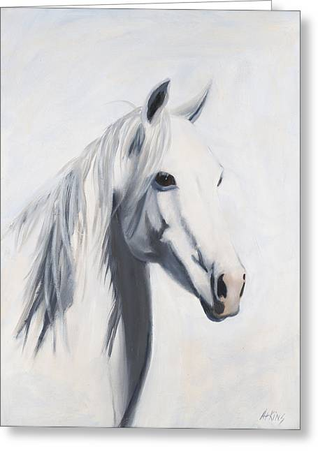 Quarter Horses Paintings Greeting Cards - Mustang Mama Greeting Card by Jack Atkins