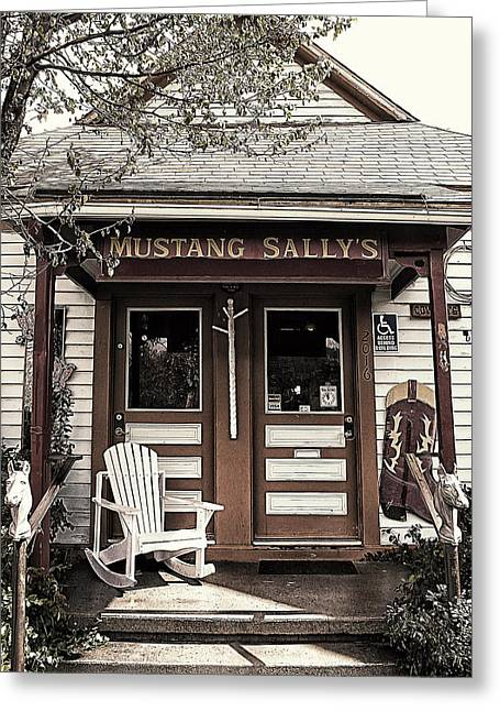 Overhang Digital Art Greeting Cards - Mustang Sallys Greeting Card by Ron Regalado