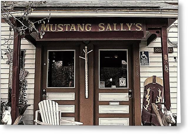 Mustang Sally's Greeting Card by Ron Regalado