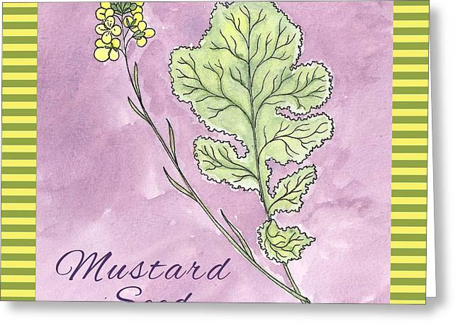 Striped Drawings Greeting Cards - Mustard Seed  Greeting Card by Christy Beckwith