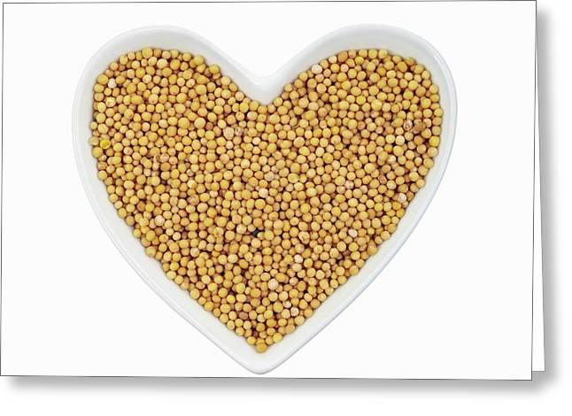 Mustard Seeds Greeting Card by Geoff Kidd