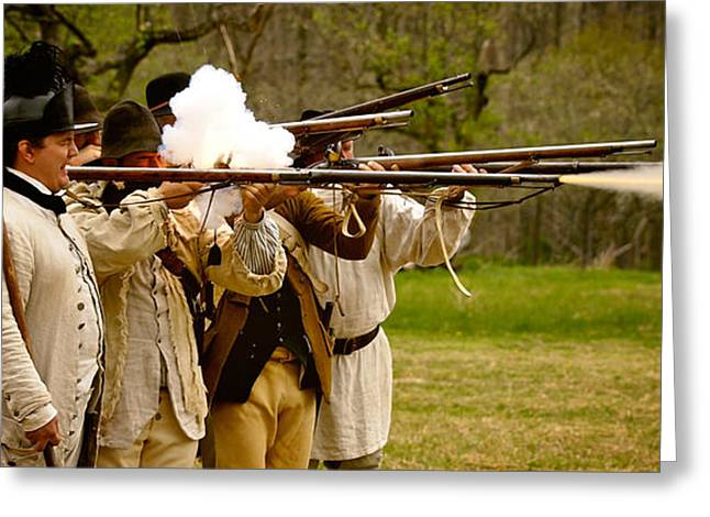 Re-enactor Greeting Cards - Muzzle Fire Greeting Card by Mark Miller