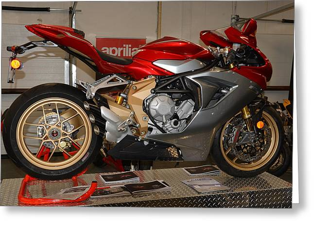 Mv Greeting Cards - Mv Agusta Greeting Card by Lawrence Christopher