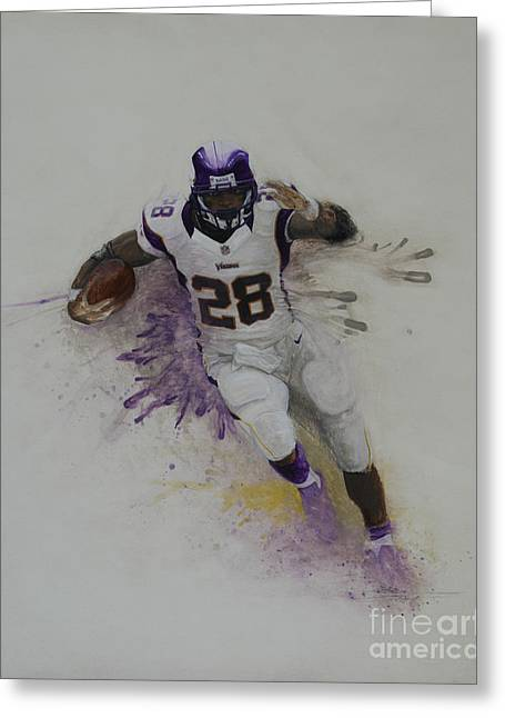 Mvpeterson Greeting Card by Jeremy Lindberg
