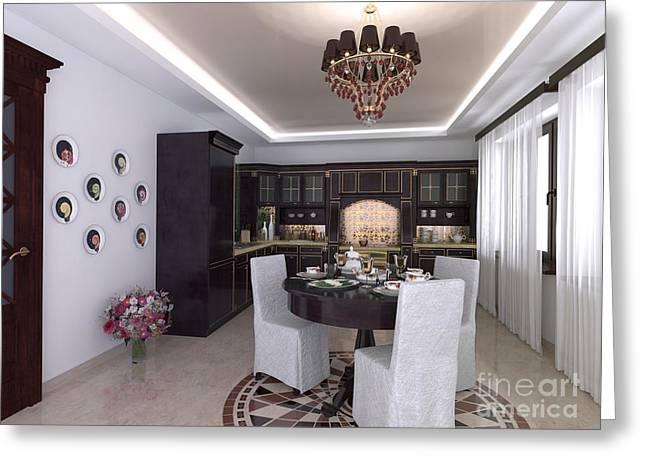 Elena Yakubovich Digital Art Greeting Cards - My Art In The Interior Decoration - Decorative Plates with fruits in the Kitchen - Elena Yakubovich Greeting Card by Elena Yakubovich