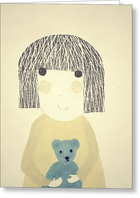 Childhood Greeting Cards - My Bear and Me Greeting Card by Katy McFall