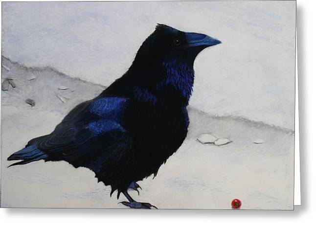 Raven Pastels Greeting Cards - My Berry Greeting Card by Laurie Cartwright