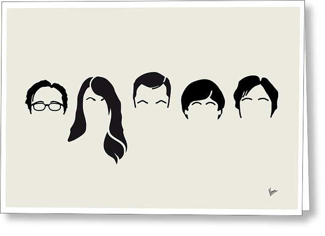Bangs Greeting Cards - My-big-bang-hair-theory Greeting Card by Chungkong Art
