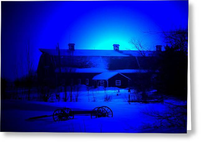 Barn Yard Greeting Cards - My Blue Haven Greeting Card by Larry Trupp