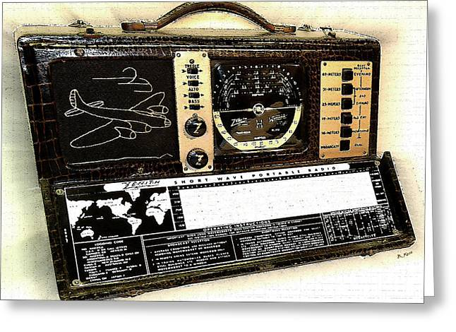 Mid Century Radio Greeting Cards - My Bomber Greeting Card by Brad Fenichel