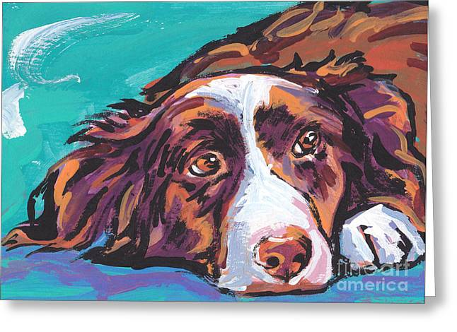 Collie Greeting Cards - My Border Greeting Card by Lea