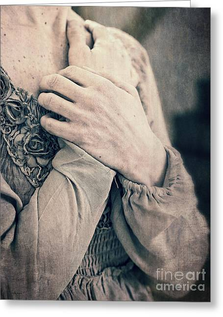 Hand Photographs Greeting Cards - My Broken Heart - Victorian Romance Greeting Card by Edward Fielding