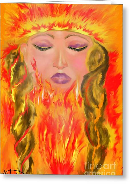 My Burning Within Greeting Card by Lori  Lovetere