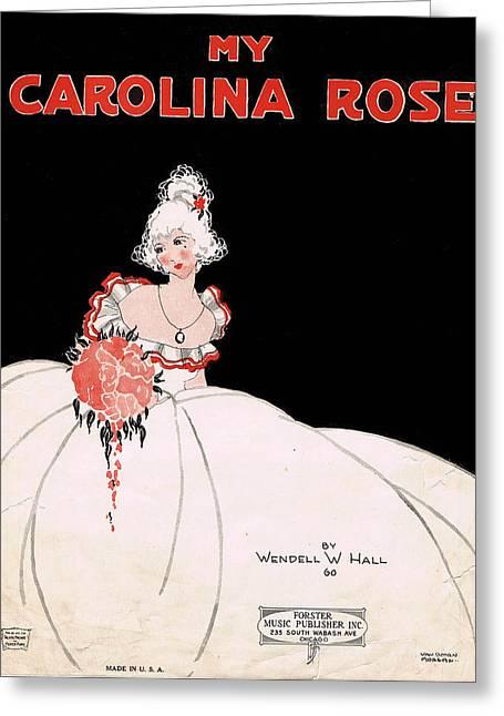 Ruffled Skirt Greeting Cards - My Carolina Rose Greeting Card by Mel Thompson