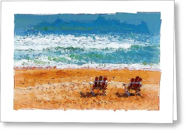Adirondak Chair Greeting Cards - My Chair Greeting Card by Alice Gipson
