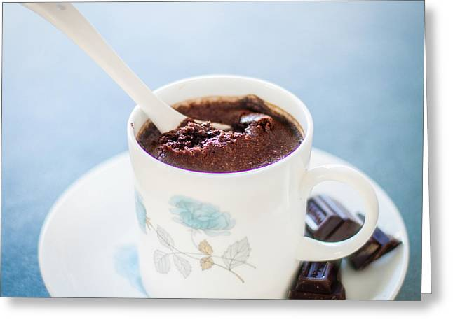 New Zealand Photographs Greeting Cards - My chocolate mousse Greeting Card by Constance Fein Harding