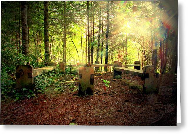 Empower Photographs Greeting Cards - My Church In The Forest Greeting Card by Joyce Dickens