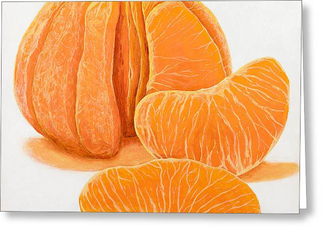 Orange Greeting Cards - My Clementine Greeting Card by Garry McMichael