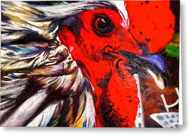 Lawn Chair Greeting Cards - My Cock Moses Greeting Card by Samantha Boren