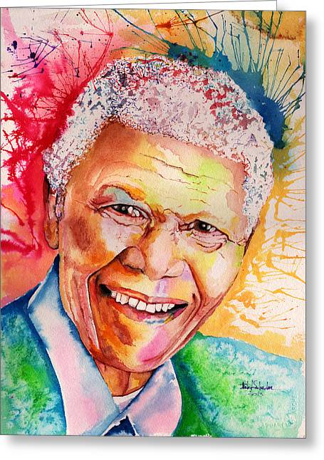 My Colors For Mandela Greeting Card by Isabel Salvador