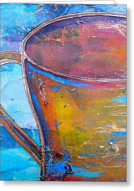 My Cup Of Tea Greeting Card by Debi Starr