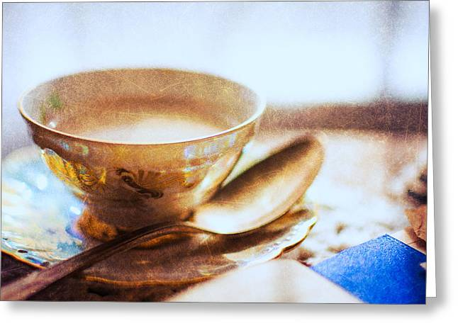 Doily Greeting Cards - My Cup of Tea Greeting Card by Jon Woodhams
