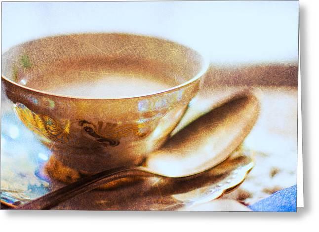 My Cup Of Tea Square Greeting Card by Jon Woodhams