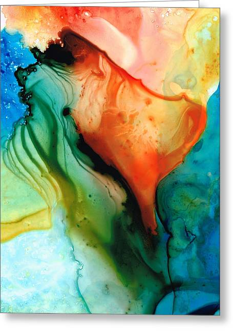 Bible Paintings Greeting Cards - My Cup Runneth Over - Abstract Art By Sharon Cummings Greeting Card by Sharon Cummings