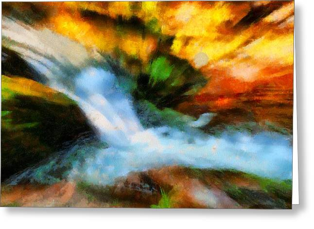 Flow Of Life Greeting Cards - My Cup Runneth Over Greeting Card by Dan Sproul