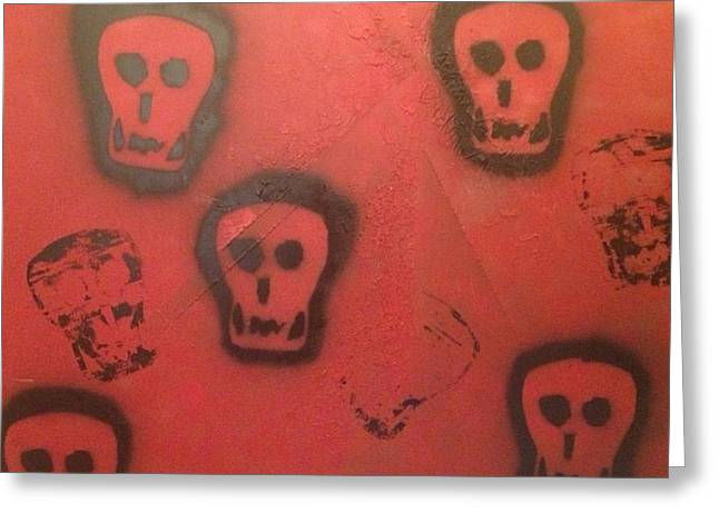 Bipolar Greeting Cards - My Devil My Friend Greeting Card by Lisa Piper Menkin Stegeman