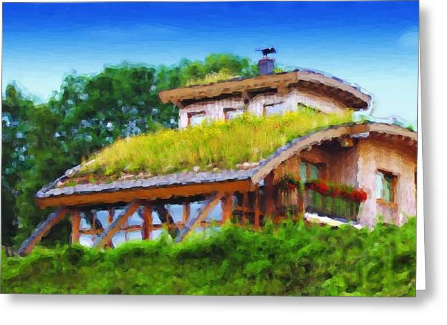 Gabriel Mackievicz Telles Greeting Cards - My dream house Greeting Card by Gabriel Mackievicz Telles