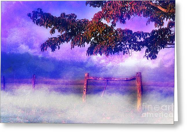 Fence Row Greeting Cards - My Dreams Lay Beyond Greeting Card by Michael Eingle