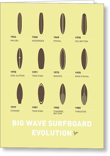 Industrial Icon Digital Art Greeting Cards - My Evolution Surfboards minimal poster Greeting Card by Chungkong Art