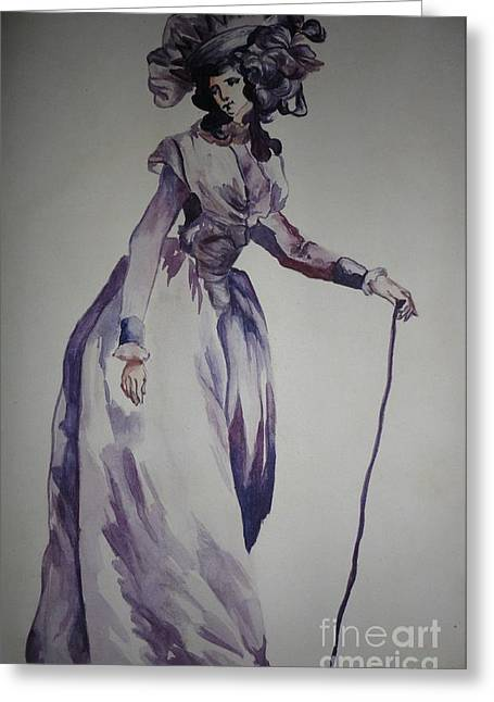 Respectable Greeting Cards - My Fair Lady Greeting Card by PainterArtist FIN