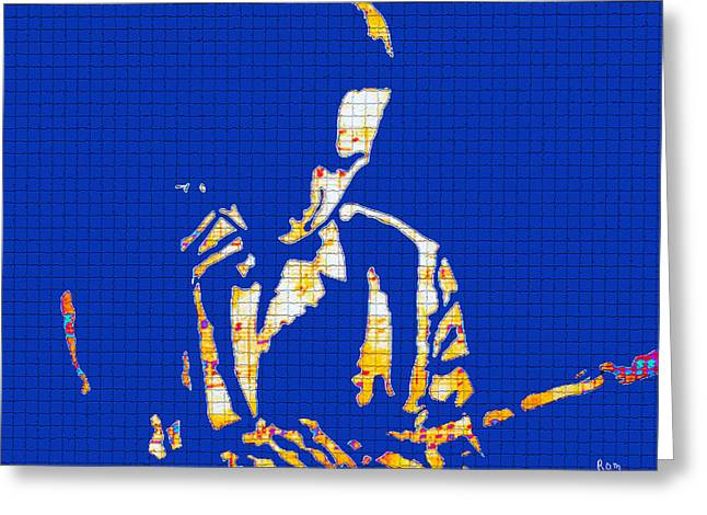 Tulane Greeting Cards - My father the jazz player Greeting Card by Robert Margetts